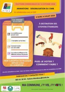Mons - Affiche animations CIMB élections