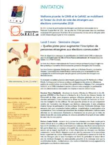 campagne de sensibilisation CeRAIC - CIMB - élections 2018